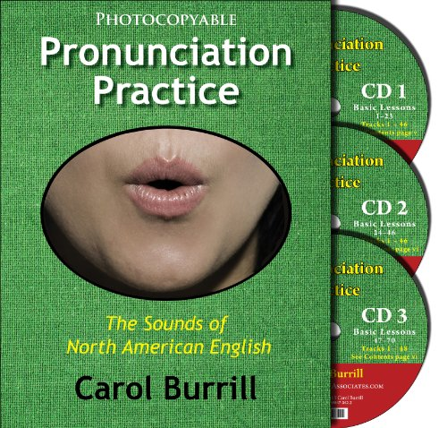 9780866473446: Pronunciation Practice: The Sounds of North American English: Text and 3 Basic Lesson CD Set
