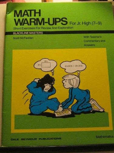 01330 MATH WARM-UPS FOR JUNIOR HIGH (DALE SEYMOUR MATH): Pearson Education