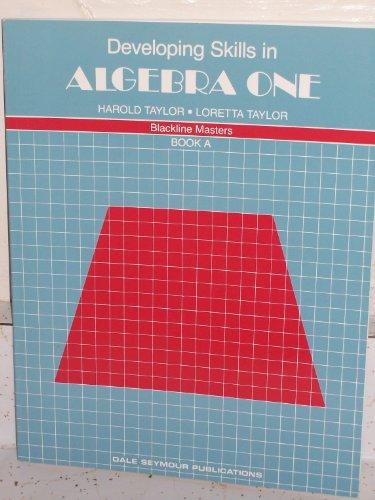 9780866512213: Developing Skills in Algebra 1, Book A, blackline masters