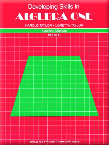 9780866512220: Developing Skills in Algebra One, Book B