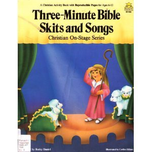 9780866536288: 3-Minute Bible Skits and Songs (Christian On-Stage Series)