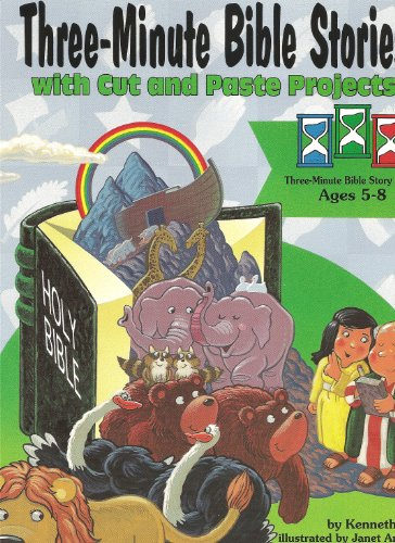 Three Minute Bible Stories with Cut and: Munn, Kenneth