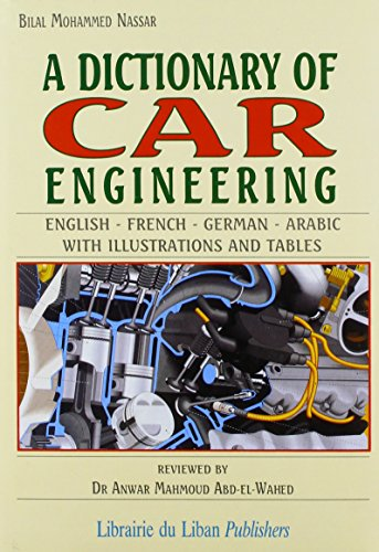 9780866856843: A Dictionary of Car Engineering: English-French-German-Arabic