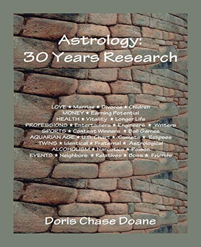 9780866900706: Astrology: 30 Years Research