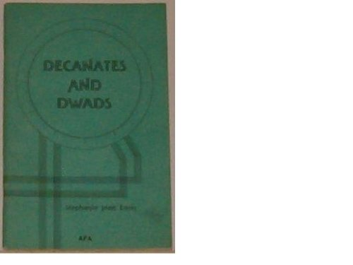 9780866902397: Decanates and Dwads