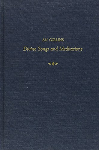 Divine Songs and Meditacions: COLLINS, An; GOTTLIEB, Sidney (ed.):