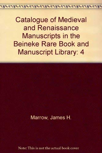 Catalogue of Medieval and Renaissance Manuscripts in: Robert Gary Babcock,