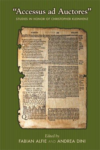 "9780866984454: ""Accessus Ad Auctores"": Studies in Honor of Christopher Kleinhenz (Medieval & Renais Text Studies)"