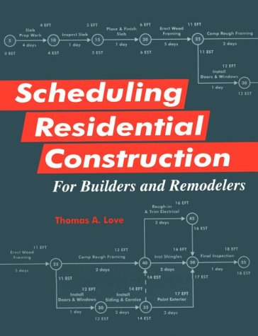 9780867184013: Scheduling Residential Construction for Builders and Remodelers
