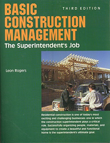 9780867184068: Basic Construction Management: The Superintendent's Job