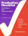 9780867184259: Production Checklist for Builders and Superintendents