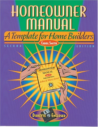 9780867185171: Homeowner Manual : A Template for Home Builders 2nd Edition