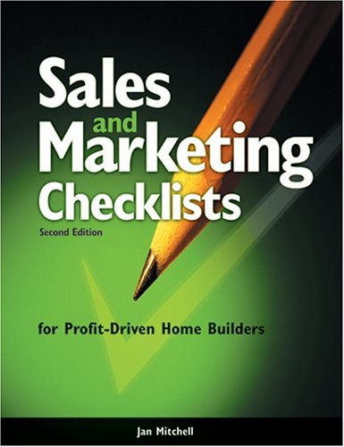 Sales and Marketing Checklists for Profit-Driven Home: Jan Mitchell
