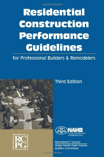 9780867186062: Residential Construction Performance Guidelines, Third edition, Contractor Reference