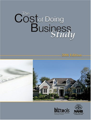 9780867186109: The Cost of Doing Business Study, 2006 Edition