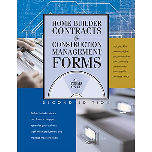 9780867186161: Home Builder Contracts & Construction Management Forms, 2nd Ed.