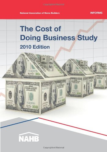 9780867186581: The Cost of Doing Business Study, 2010 Edition