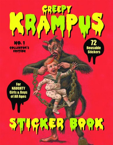 9780867197914: Krampus Sticker Book 72 Reusable Stickers for Naughty Girls and Boys of All Ages