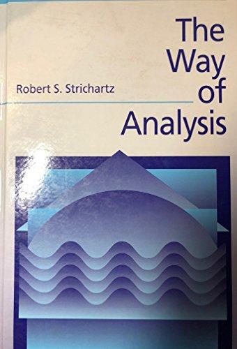 9780867204711: The Way of Analysis (Jones and Bartlett Books in Mathematics)