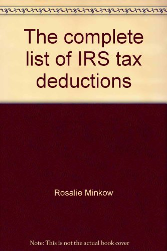 9780867212273: The complete list of IRS tax deductions