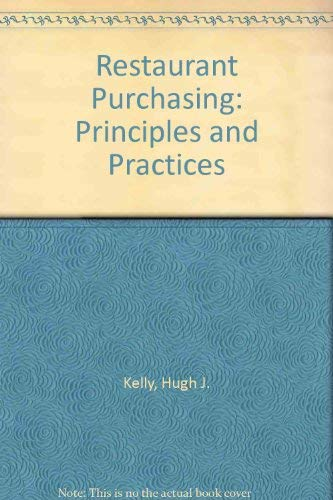 9780867302134: Restaurant Purchasing: Principles and Practices