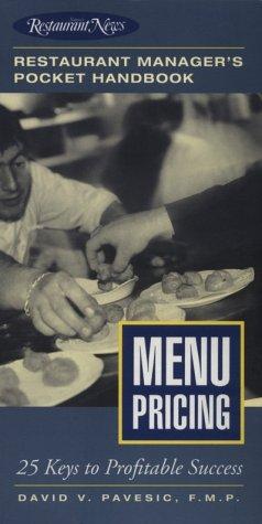 9780867307528: Menu Pricing: Restaurant Manager's Pocket Handbook Series