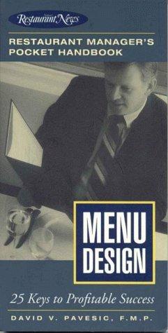 9780867307542: Menu Design: Restaurant Manager's Pocket Handbook Series