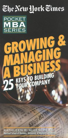 9780867307740: NYT Growing and Managing a Business
