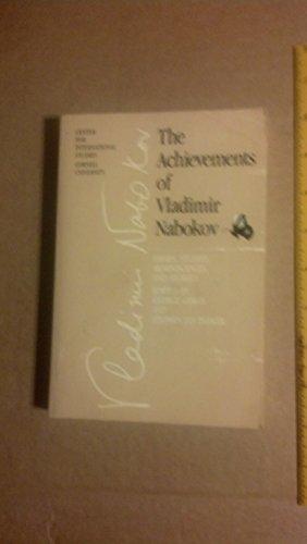 Achievements Vladimir Nabokov Essays by George Gibian - AbeBooks