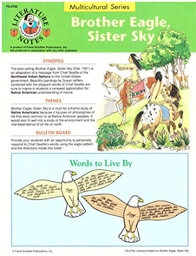 9780867342598: Literature Notes: Brother Eagle, Sister Sky (Multicultural Series)
