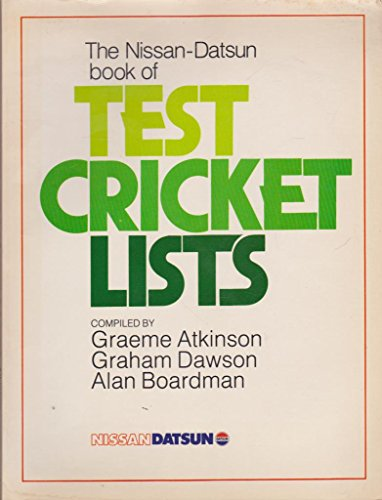 9780867880137: The Nissan-Datsun book of Test Cricket Lists