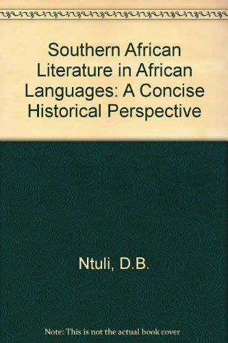 9780868171364: Southern African Literature in African Languages: A Concise Historical Perspective
