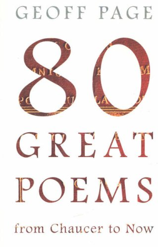 9780868409245: 80 Great Poems: From Chaucer to Now