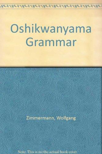 9780868488202: Oshikwanyama Grammar