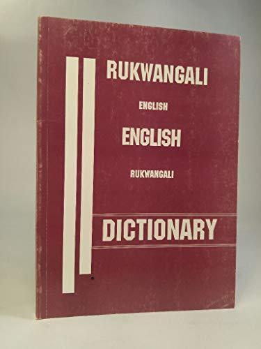 9780868488783: Rukwangali-English/English-Rukwangali Dictionary