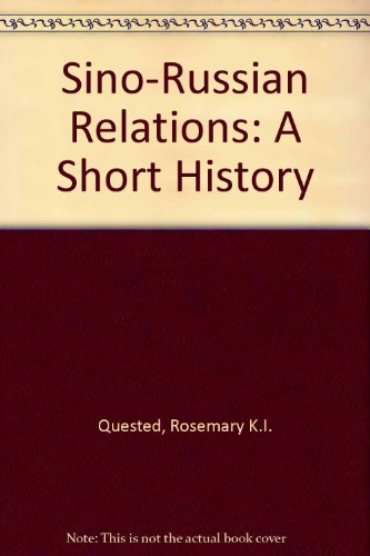 9780868612478: Sino-Russian Relations: A Short History