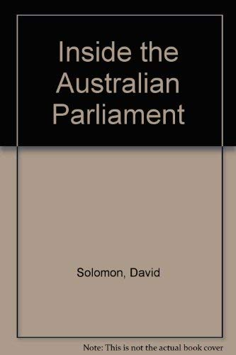 9780868613444: Inside the Australian Parliament