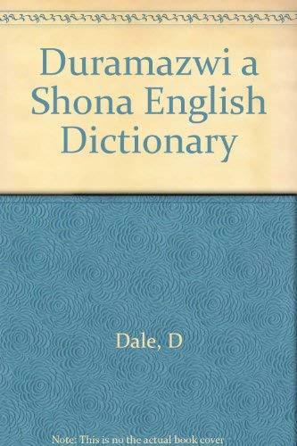 9780869222249: Duramazwi a Shona English Dictionary - AbeBooks - D