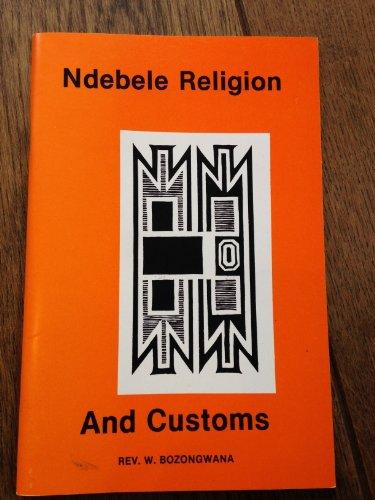 Ndebele Religion and Customs: Bozongwana, W.