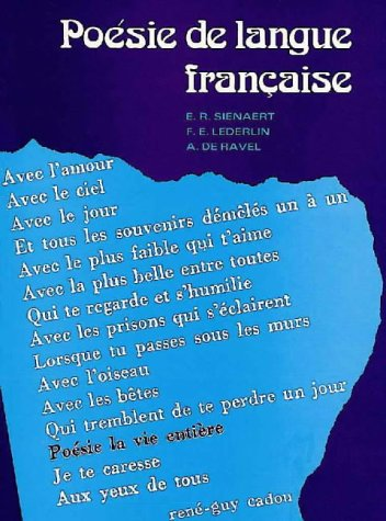 Poesie De Langue Francaise (French Edition): n/a