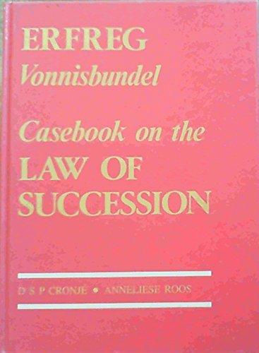 9780869815625: Erfreg vonnisbundel =: Casebook on the law of succession (Manualia composita) (Afrikaans Edition)