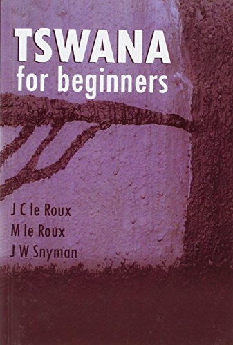 9780869816998: Tswana for Beginners (Manualia Didactica) (English and Setswana Edition)