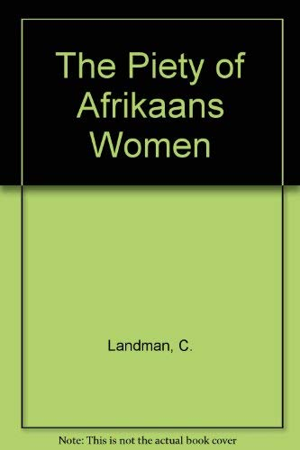 9780869818534: The Piety of Afrikaans Women