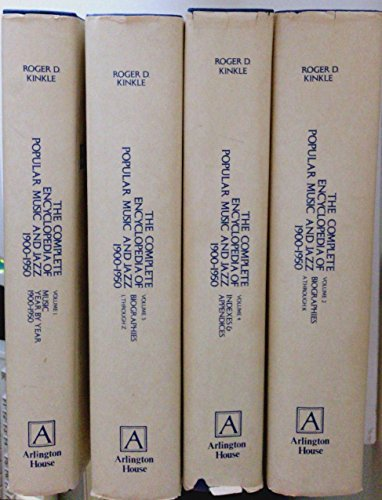 9780870002298: The Complete Encyclopedia of Popular Music and Jazz, 1900-1950 (Volumes 1-4)