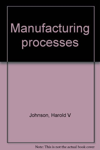 9780870022999: Title: Manufacturing processes