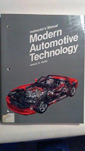 9780870060458: Modern Automotive Technology/Instructor's Manual