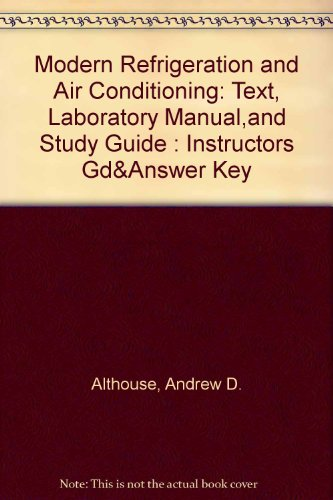 9780870066443: An Answer Key for Modern Refrigeration and Air Conditioning