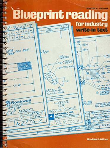 9780870067372: Blueprint Reading for Industry: Write-In Text