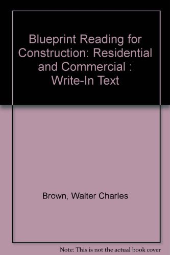 9780870068256: Blueprint Reading for Construction: Residential and Commercial : Write-In Text