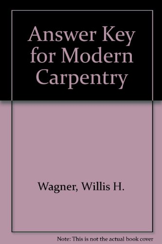 9780870068775: Answer Key for Modern Carpentry